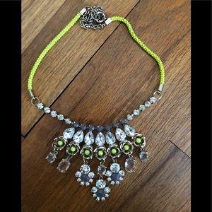Jcrew flower neon necklace